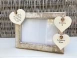 Shabby personalised Chic Photo Frame In Memory Of A Husband ~ Loved One Any Name - 232993464318